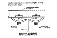 Drawing Mounting Clamp for Cross Arm Bracket, 12 Gauge C-Track_Installation