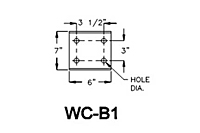 Drawing BRACKET MODEL WC-B1