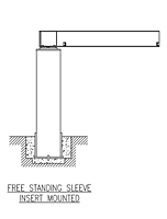 Drawing ACECO_Free_Standing_Sleeve_Insert_Mounted