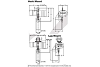 Drawing Budgit Electric Chain Hook and Lug Mounted Hoists