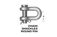 Product Image Chain Shackles Round Pin - Industrial Grade