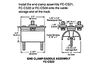 Drawing End Clamp and Saddle Assembly, 12 Gauge C-Track_Installation