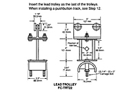 Drawing Tow Trolley and Saddle Assembly, 12 Gauge C-Track_Installation