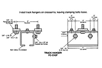 Drawing Track Hanger Clamp Assembly, 12 Gauge C-Track_Installation