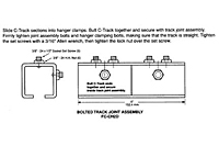 Drawing Track Joint Assembly, 12 Gauge C-Track_Installation