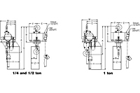 Drawing Yale YAL Air Hoist Drawing 1