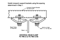 Drawing Mounting Clamp for Cross Arm Support, 14 Gauge C-Track Installation